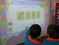 Children Using a SmartBoard
