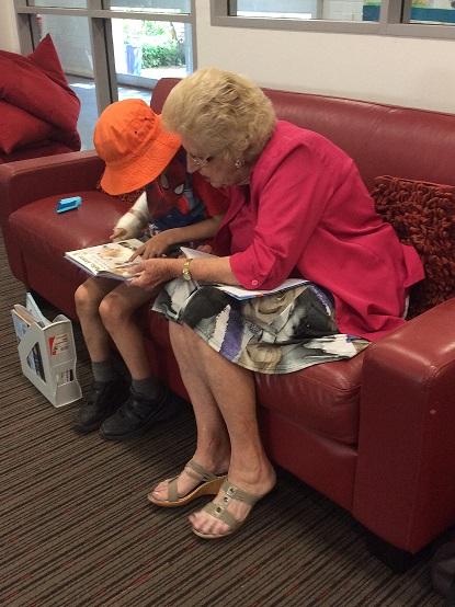 Grandparents helping at school