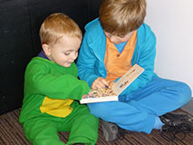 Reading to Childcare Child